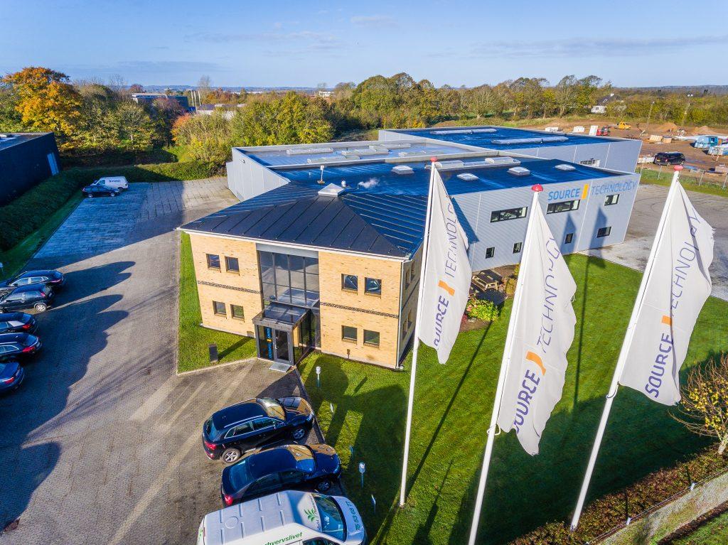 Luftfoto til firmaprofil og hjemmeside