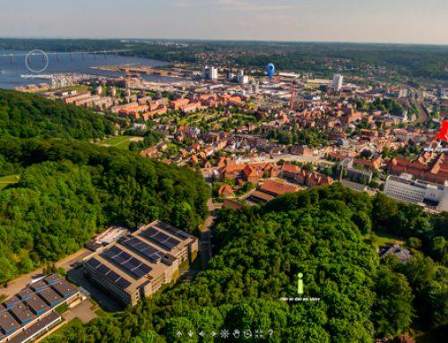 360º luftfoto af by – Vejle