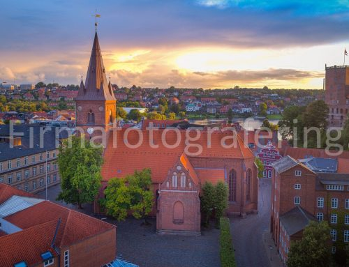 Luftfoto af Sct Nicolai kirke
